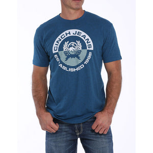 Cinch Logo Graphic Monaco Blue Mens Tee