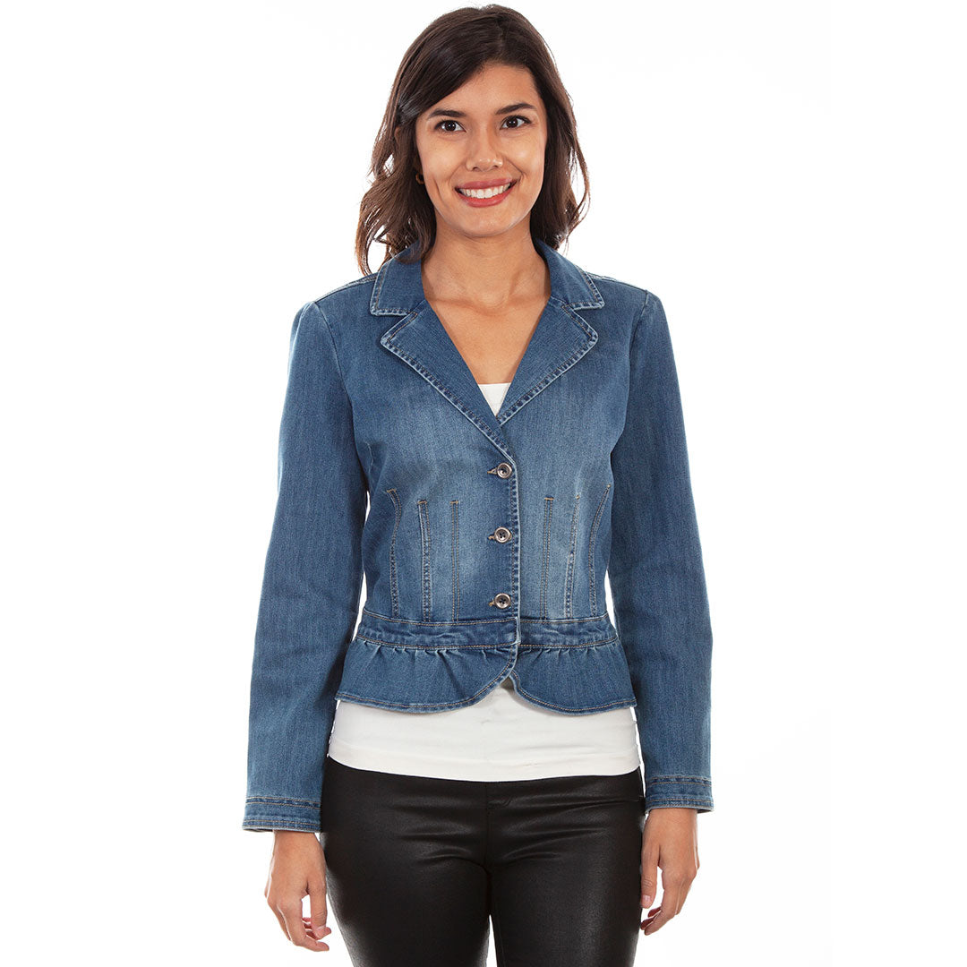 Scully Peplum Denim Jacket