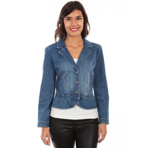 find lowest price unique style more photos Scully Peplum Denim Jacket