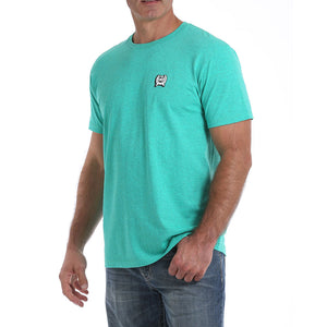 Cinch Graphic Heather Teal Mens Tee