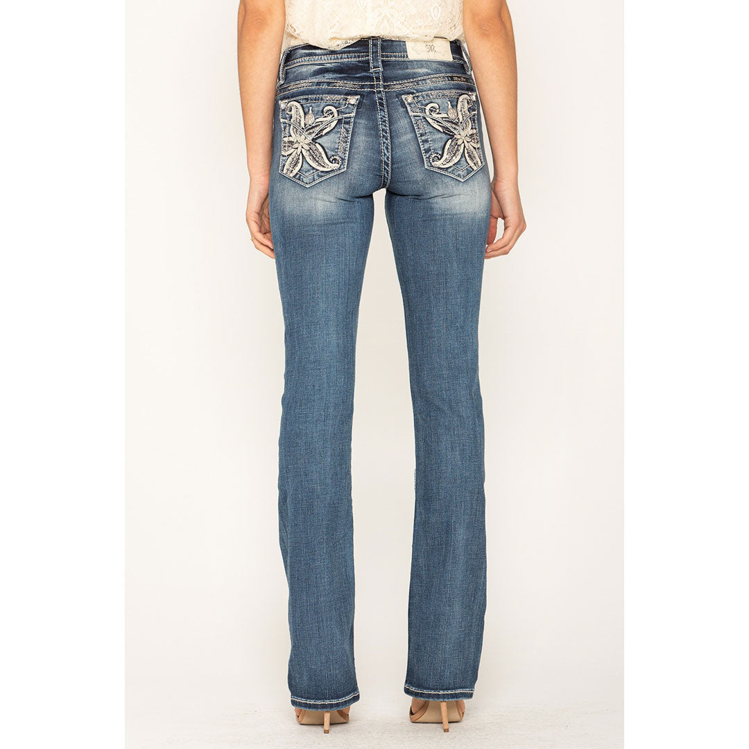 Miss Me In The Tropics Slim Boot Cut Jean