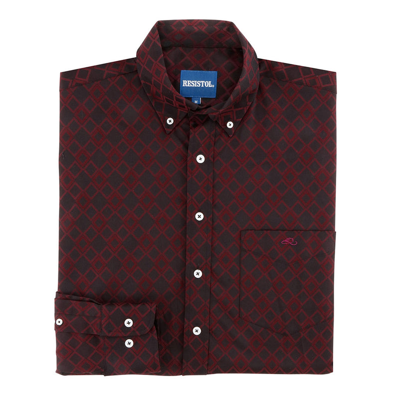 Resistol Blaisdell Button Diamond Print Shirt