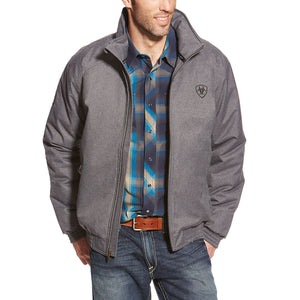 Ariat Team Logo Insulated Mens Charcoal Heather Jacket