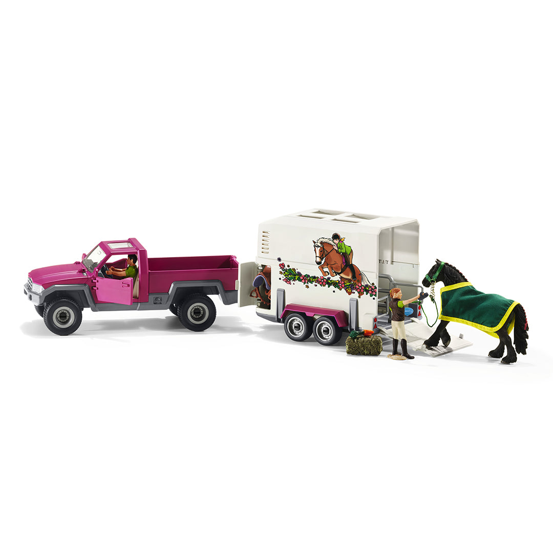 Schleich Pick-Up Truck With Horse Box Toy