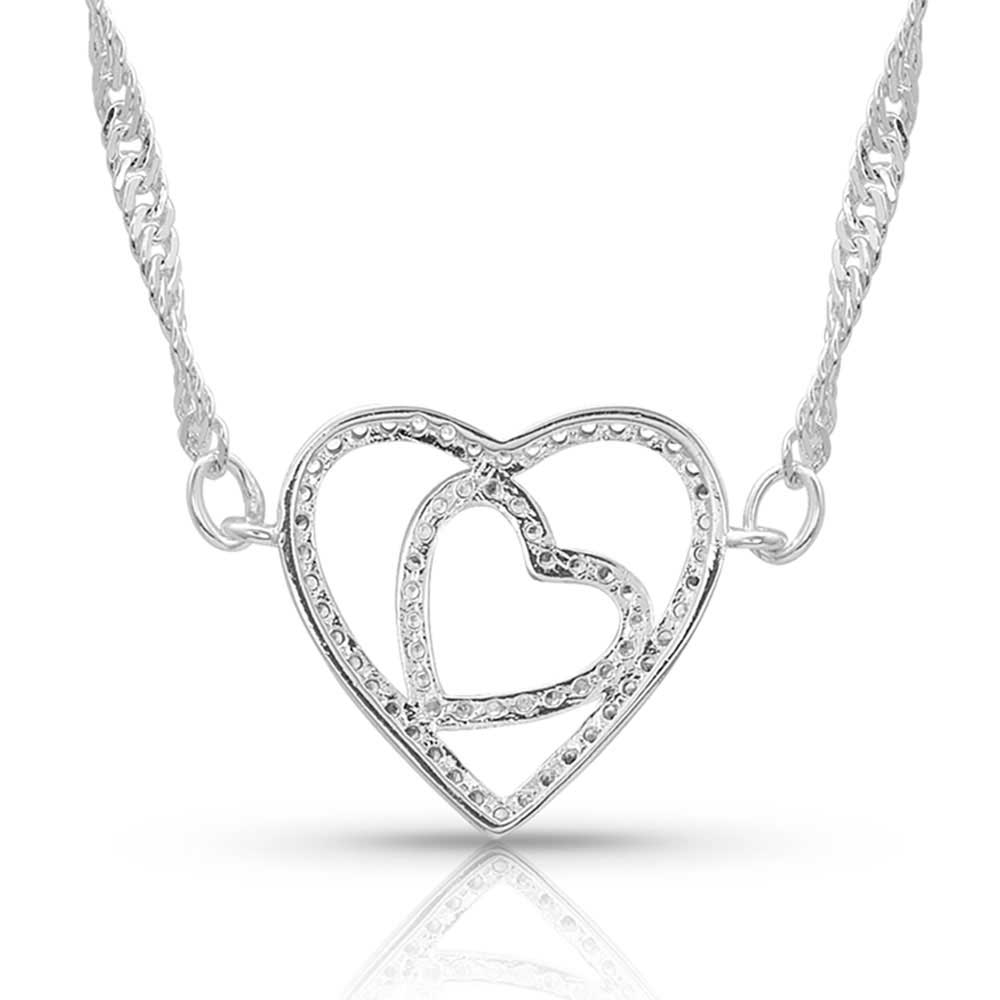 Montana Silversmiths Double Heart Necklace