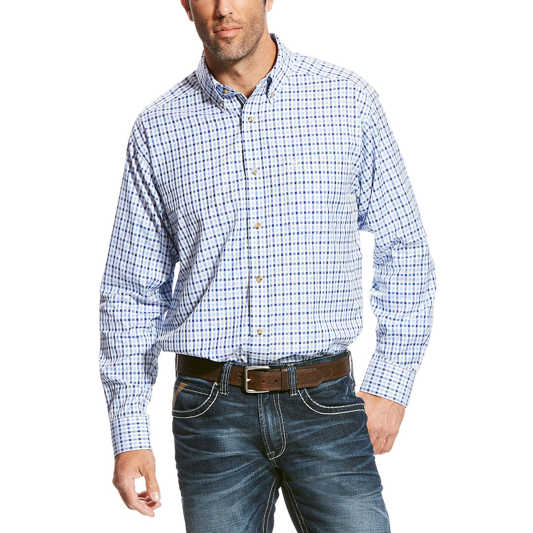 Ariat Sinclair Blue & White Plaid Shirt