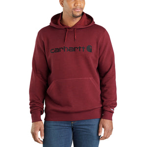 Carhartt Force® Delmont Signature Graphic Hooded Burgundy Mens Sweatshirt