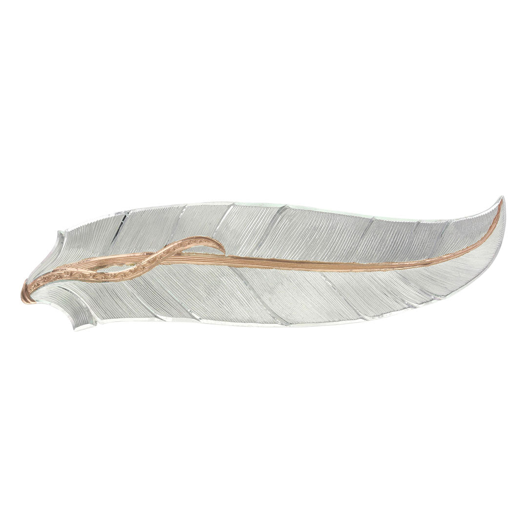 Montana Silversmiths  Rose Gold Accent Feather Barrette