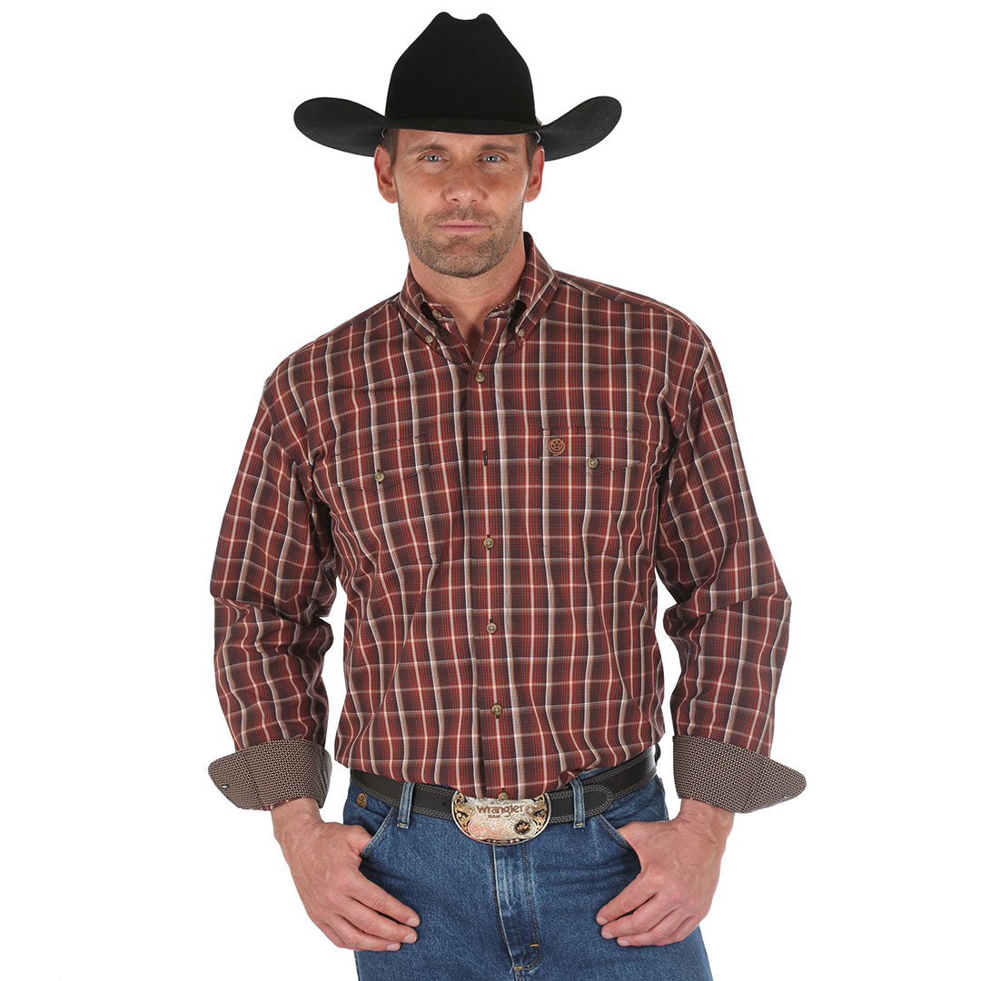 George Strait Brown Plaid Shirt