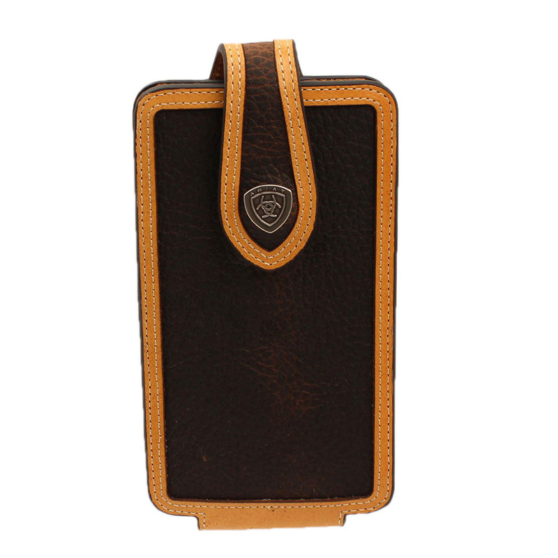 Ariat Two-Tone Leather Cell Phone Case