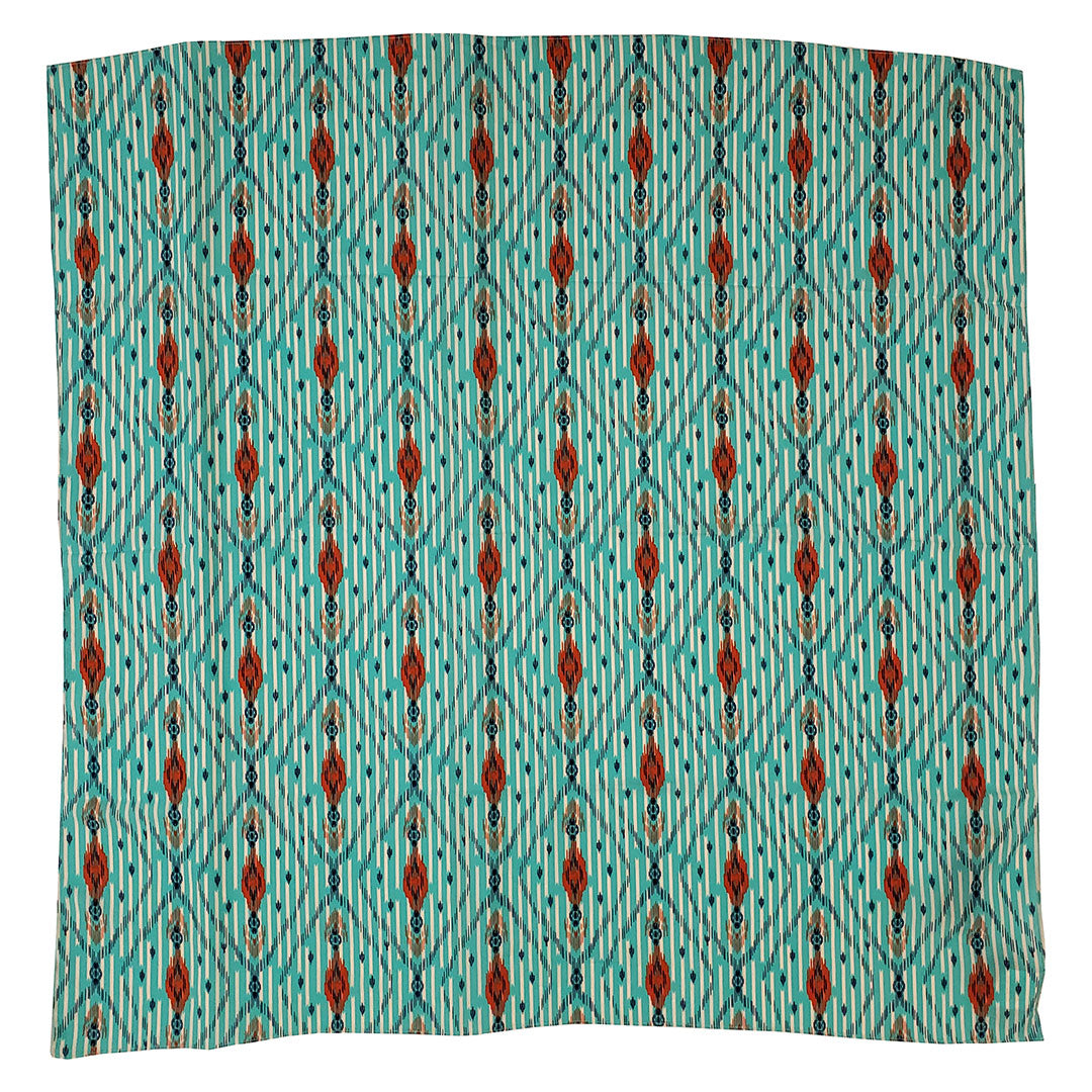 Wrangler Diamond Pattern Turquoise & Red Wild Rag