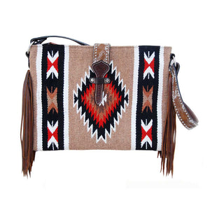 Twisted X Women's Aztec Cowhide Crossbody Tote