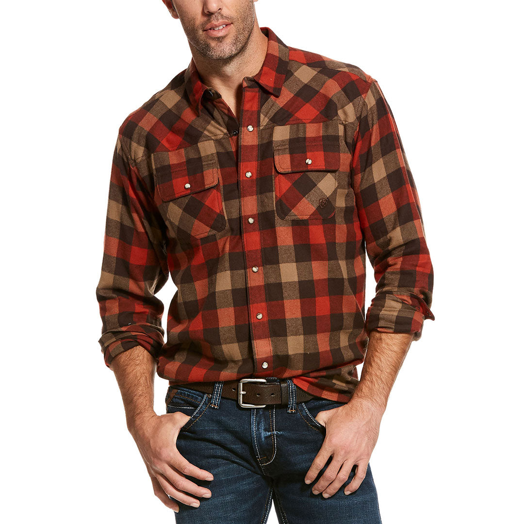 Ariat Kenton Retro Copper Rust Plaid Men's Shirt