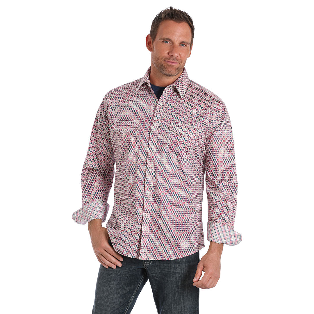 Wrangler® 20X® Advanced Comfort Red Floral Print Shirt