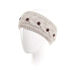Laundromat Haven Oatmeal Cable Knit Womens Headband