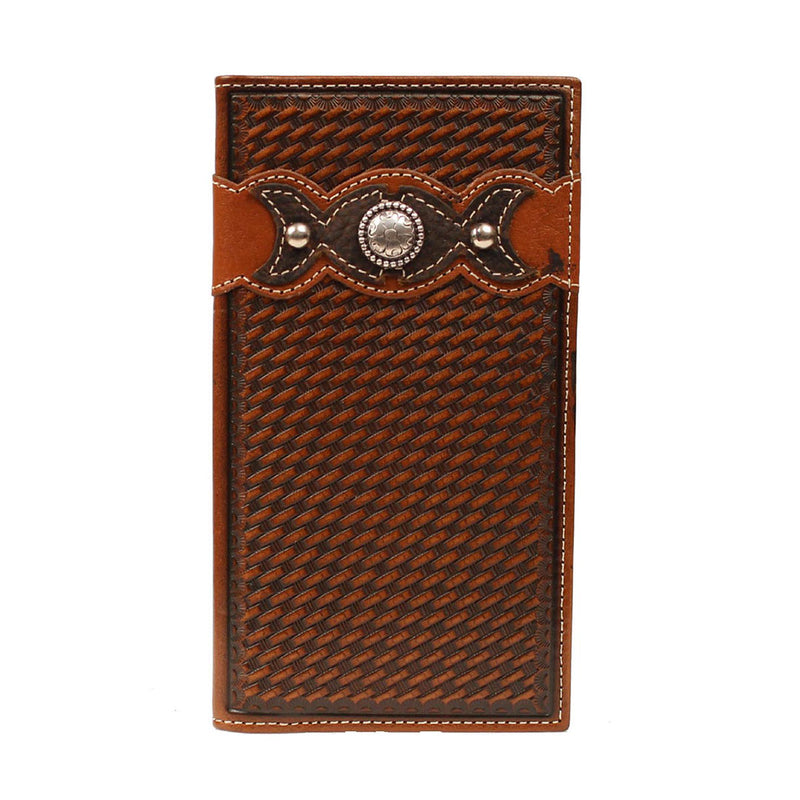 Ariat Basket Weave Leather Wallet