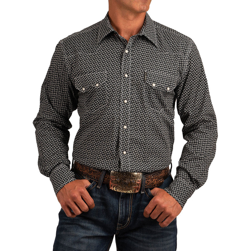 Cinch Navy Floral Print Shirt