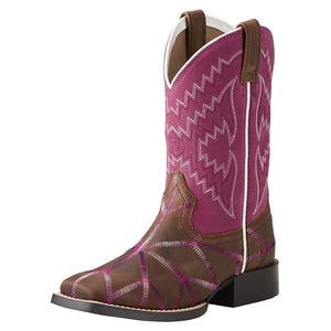 Ariat Twisted Tycoon Pink Kids Cowgirl Boots