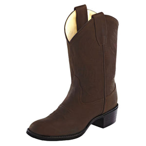 Old West Kids Brown Western Boots