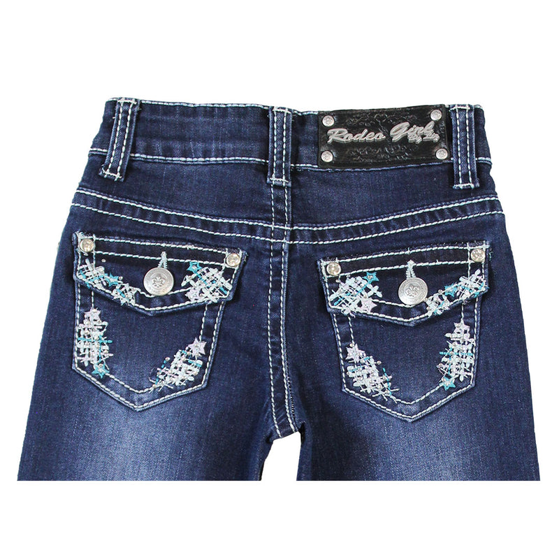 Rodeo Girl Girl's Button Flap Jeans
