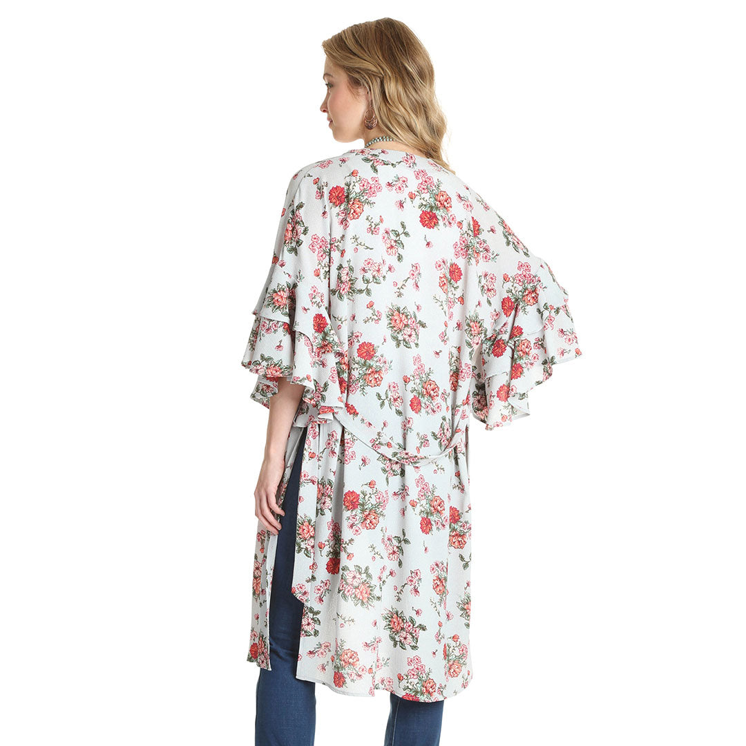 Wrangler Grey Floral Print Womens Duster