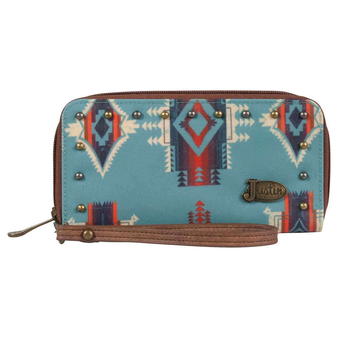 Justin Custom Turquoise Aztec Wallet