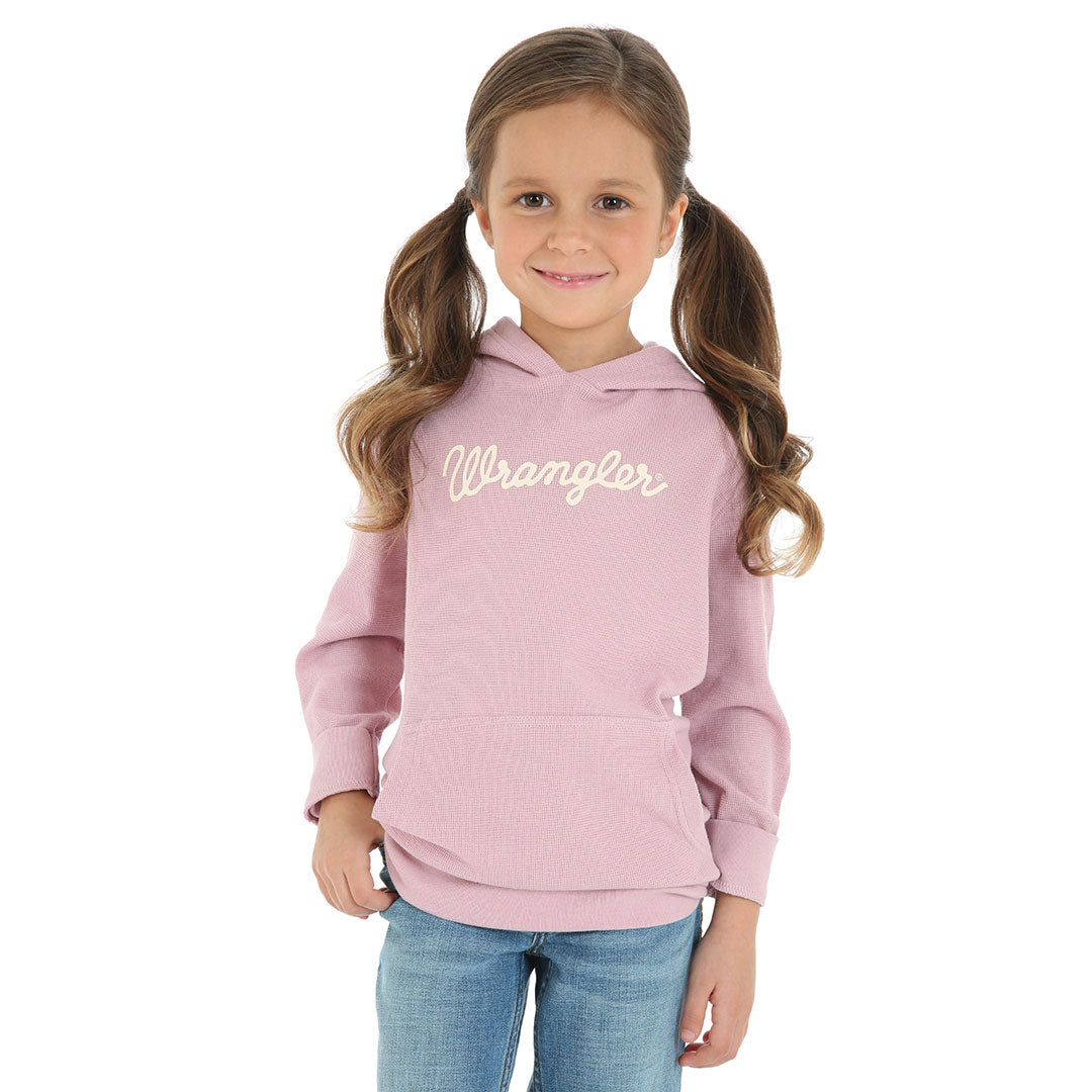 Wrangler Pink Knit Girls Hoodie Top