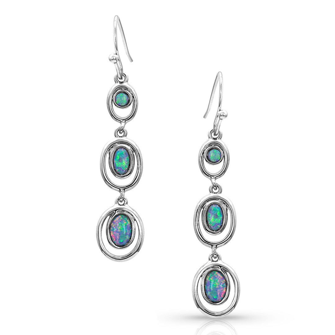 Montana Silversmiths Charmed Opal Trio Earrings