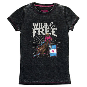 Cowgirl Hardware Wild & Free Acid Wash T-Shirt