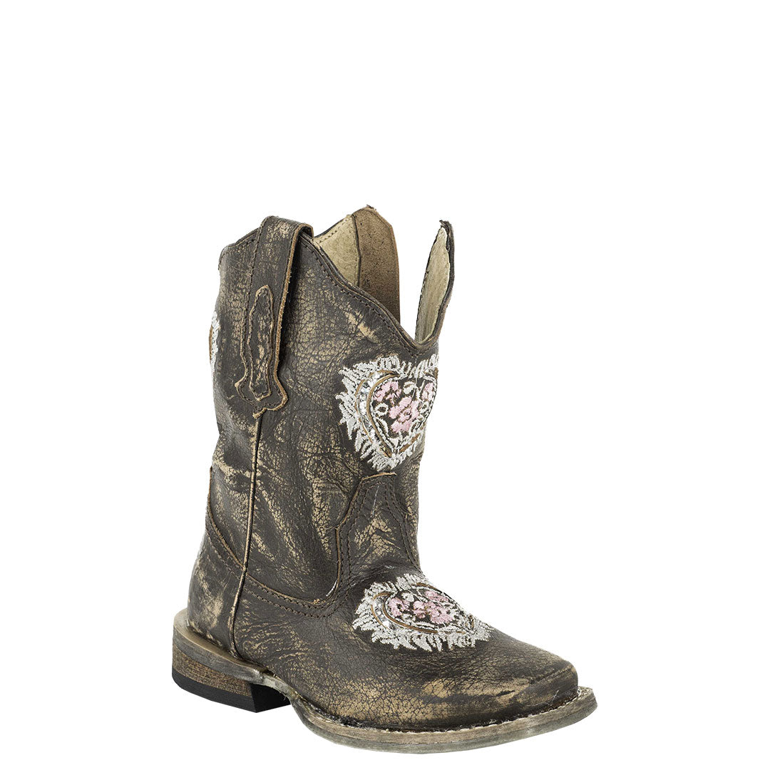 Roper Destiny Floral Heart Toddler Cowgirl Boots