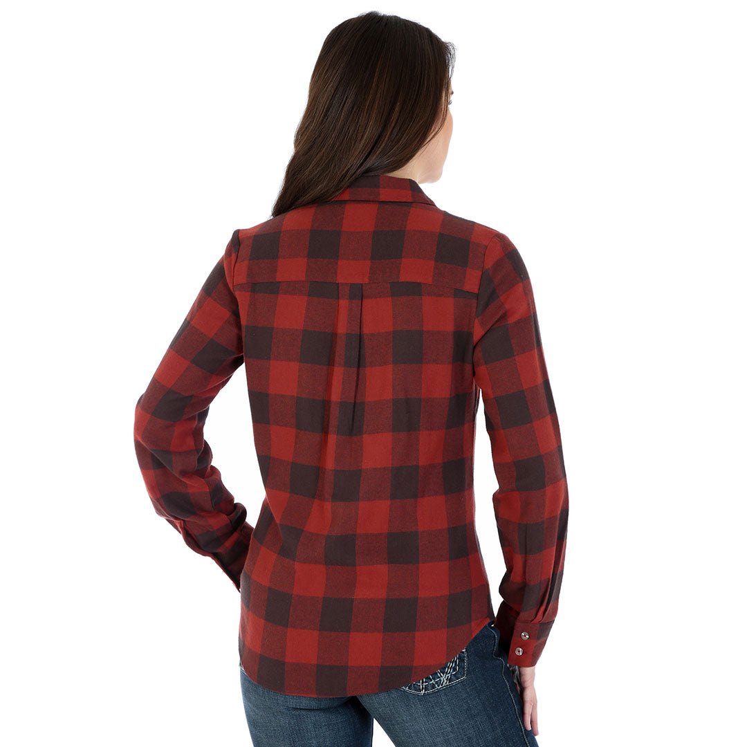 As Real As Wrangler® Red Plaid Flannel Shirt