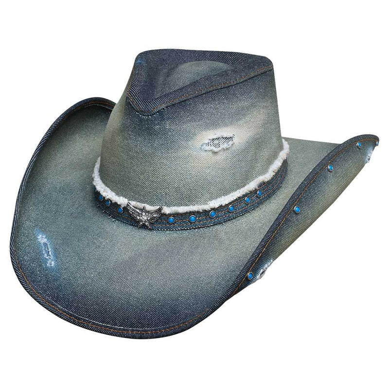Bullhide Hats Silver Wings Denim Cowgirl Hat