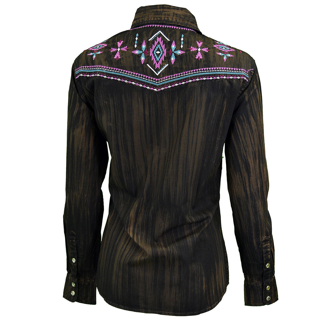 Cowgirl Hardware Brush Dye Aztec Shirt