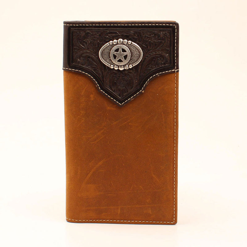 Nocona Star Concho Leather Rodeo Wallet