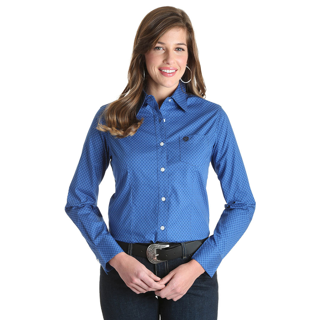 George Strait for Her Blue Dot Print Women's Shirt