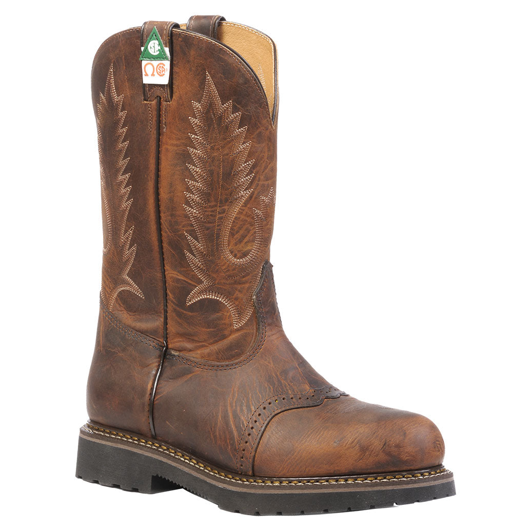 Boulet Laid Back Tan Spice Steel Toe Work Boots