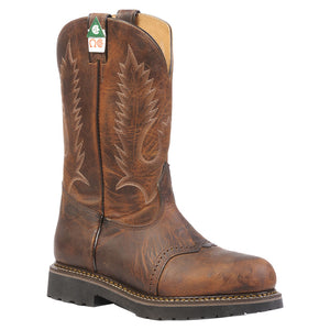 Boulet Laid Back Tan Spice Steel Toe Cowboy Work Boots
