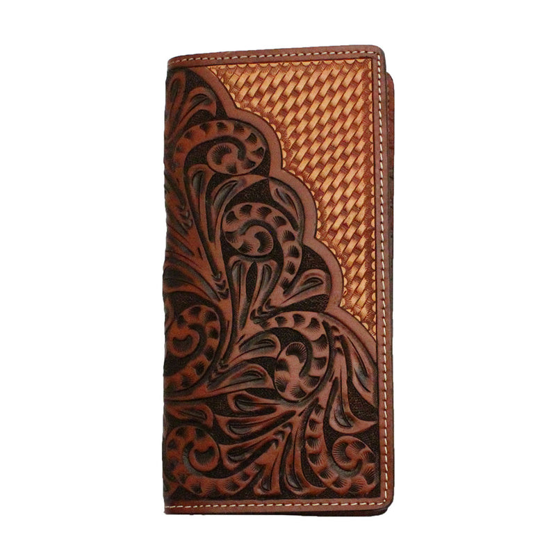 Ranger Belt Co. Brown Floral & Vine Rodeo Wallet