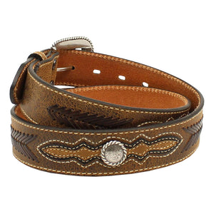 Ariat Roped Edge Concho Distressed Leather Belt