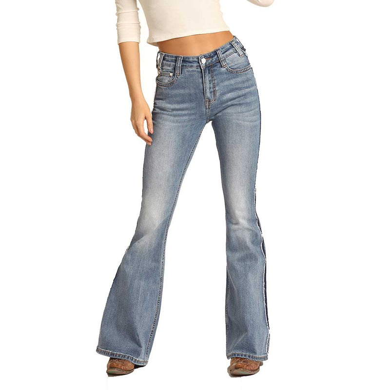 Rock & Roll Denim Women's High Rise Flare Jeans