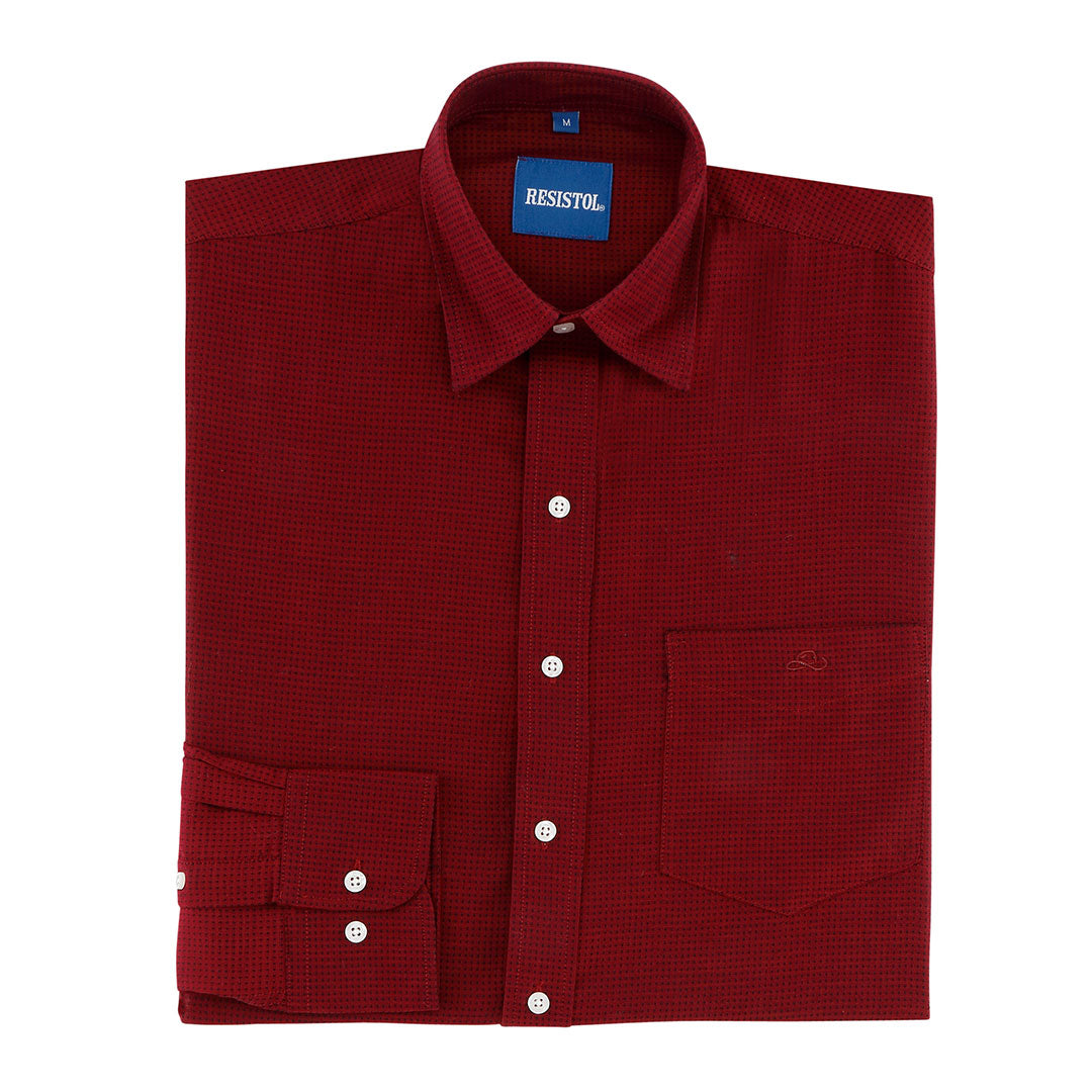 Resistol Northridge Jacquard Wine Mens Shirt