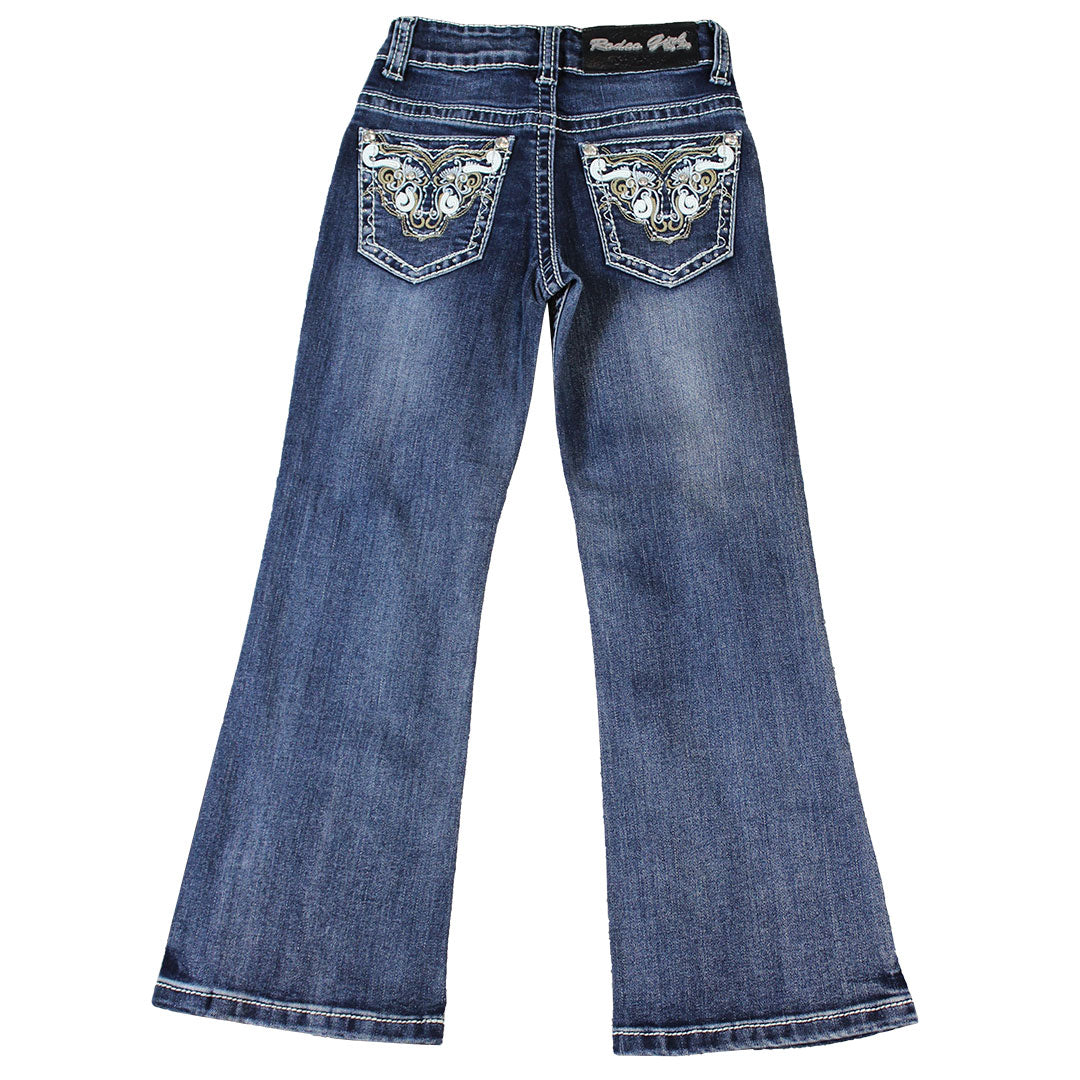 Rodeo Girl Bull Embroidery Jeans