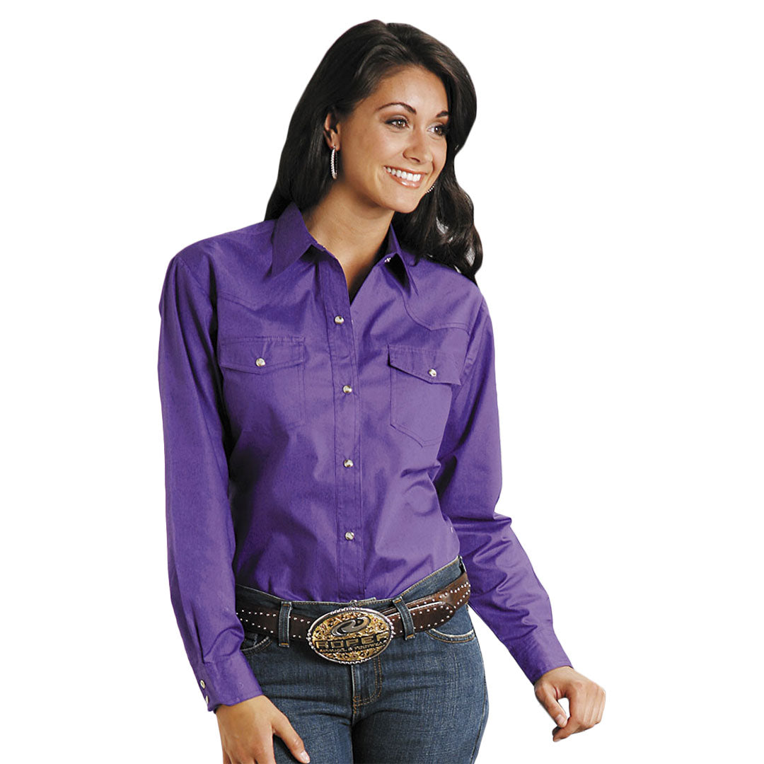 Roper Amarillo Solid Snap Women's Shirt