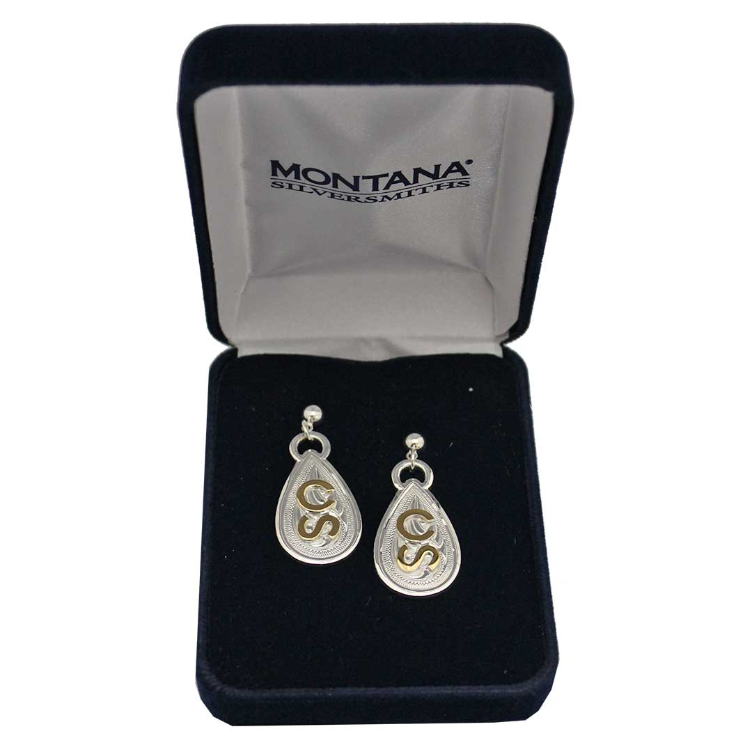 Montana Silversmiths  Calgary Stampede Teardrop Earrings