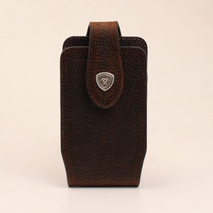 Ariat Brown Rowdy Leather Cell Phone Case