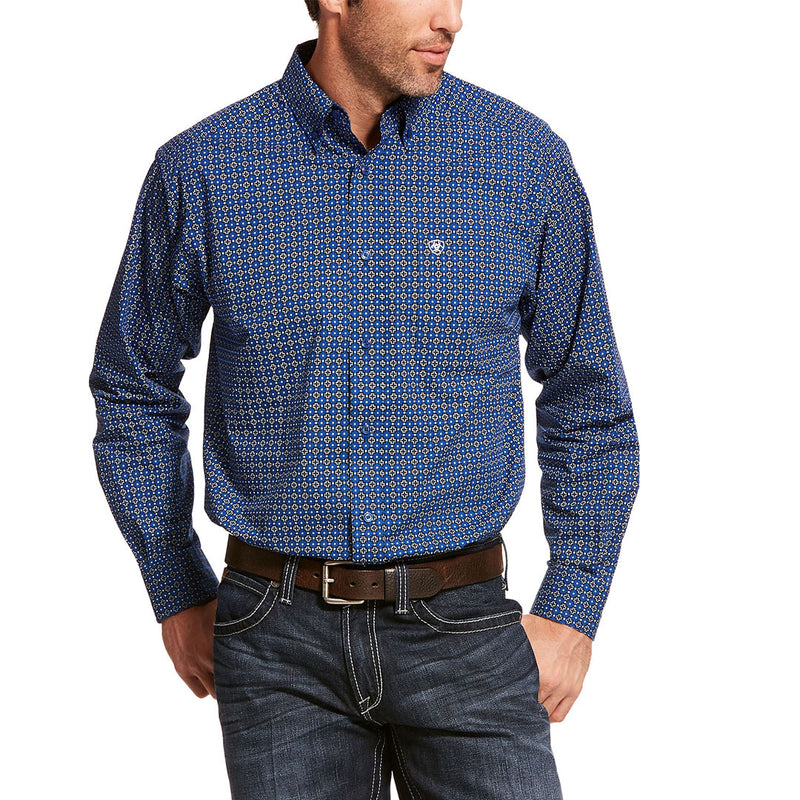 Ariat Bainton Classic Vertical Blue Mens Shirt