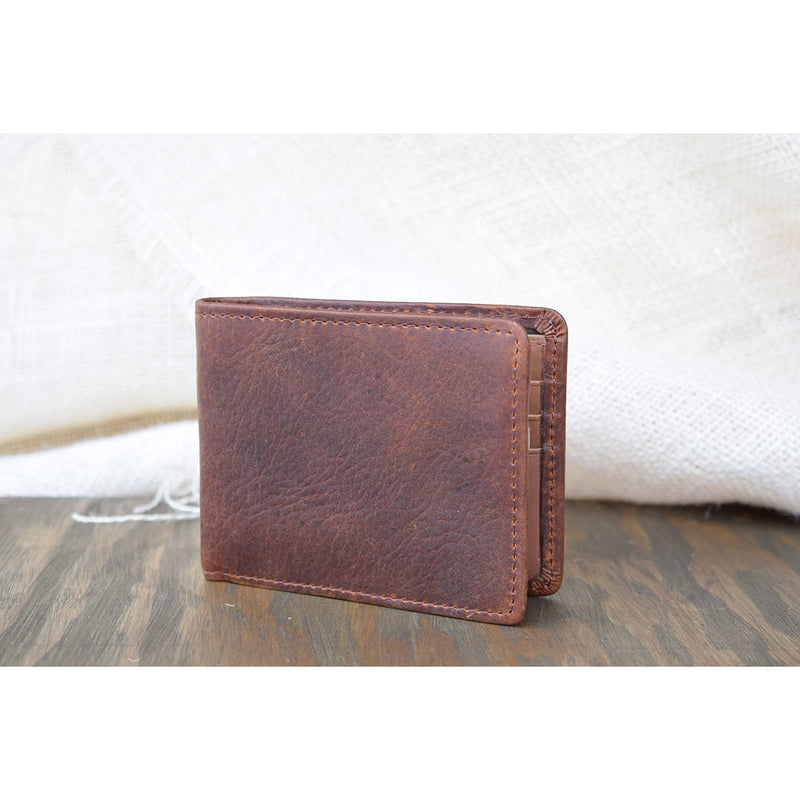 Lejon Large Bi-Fold Saddle Tan Wallet