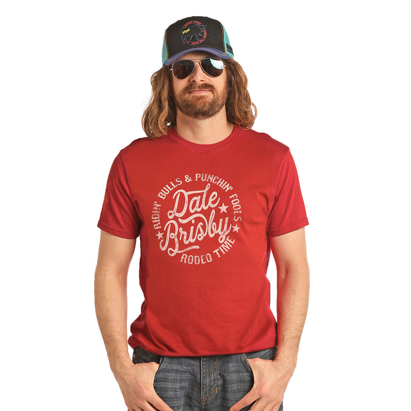 Rock & Roll Cowboy Dale Brisby Red Logo T-Shirt