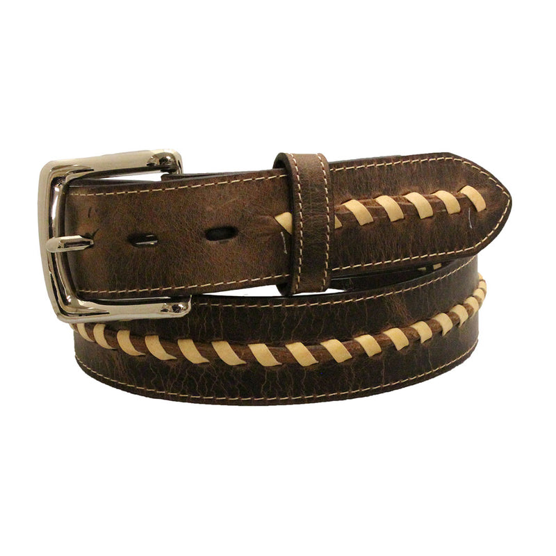 Twisted X Center Spiral Loop Leather Belt