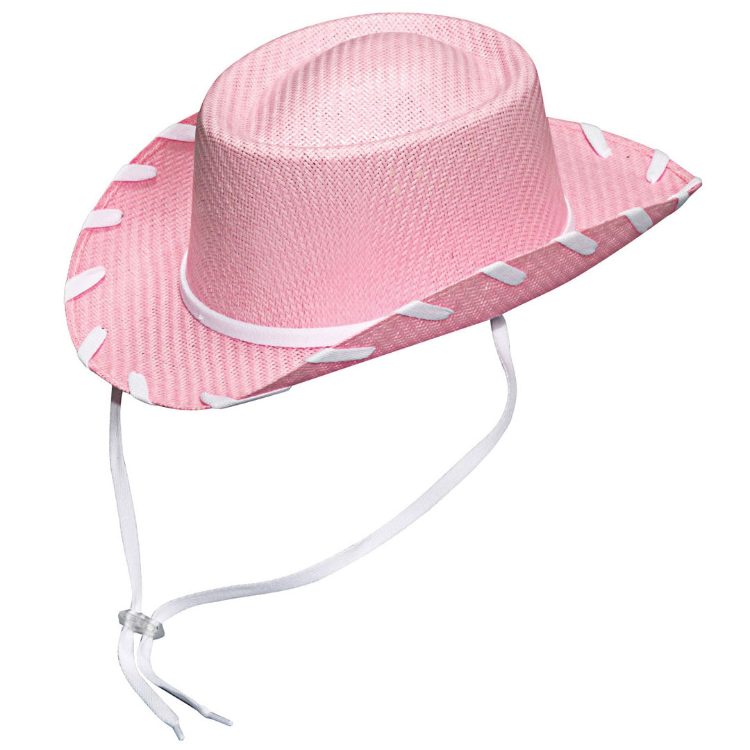 Twister Woody Pink Straw Cowgirl Hat
